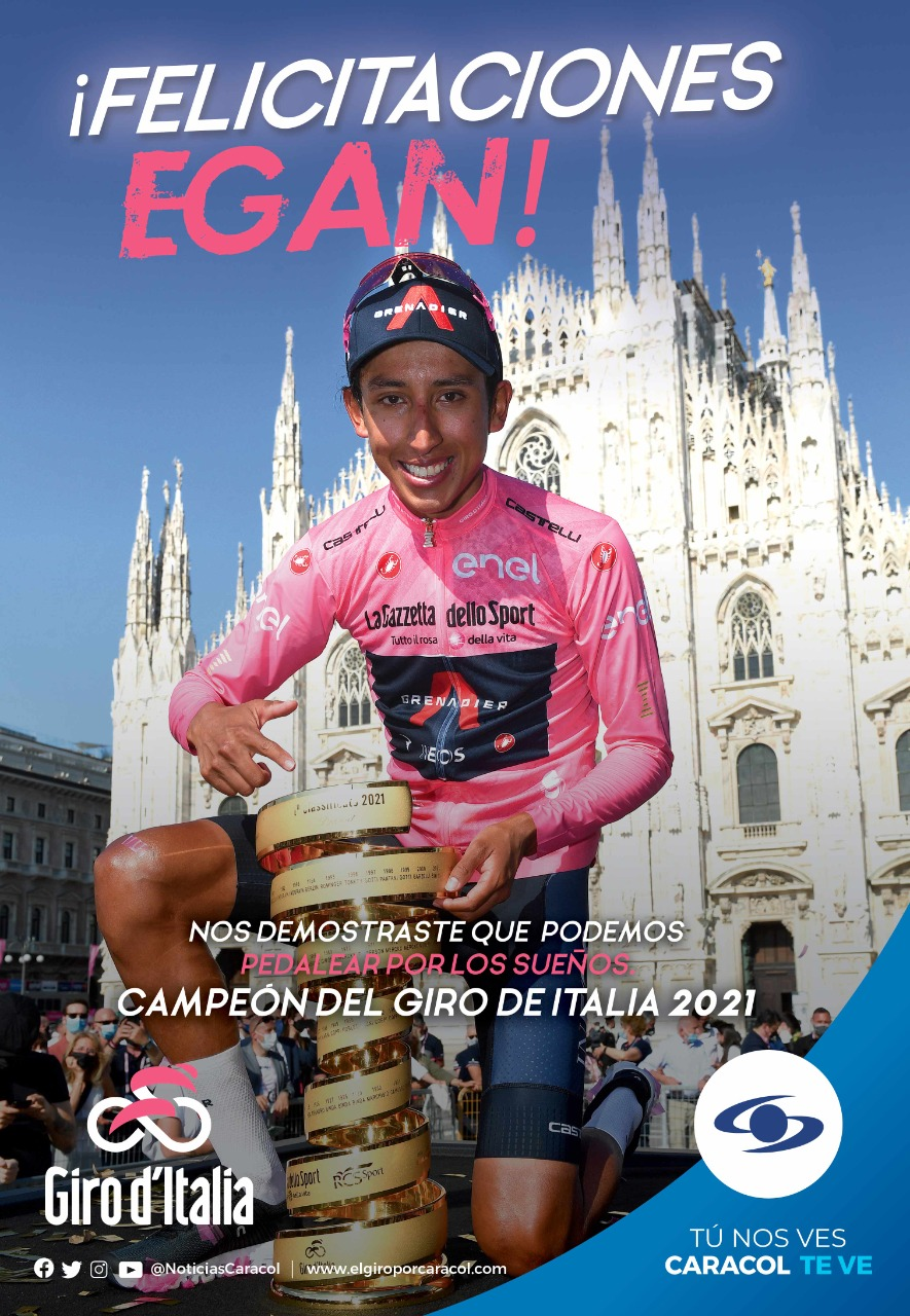 El país se unió para acompañar a Egan Bernal y al resto de corredores colombianos durante el Giro de Italia