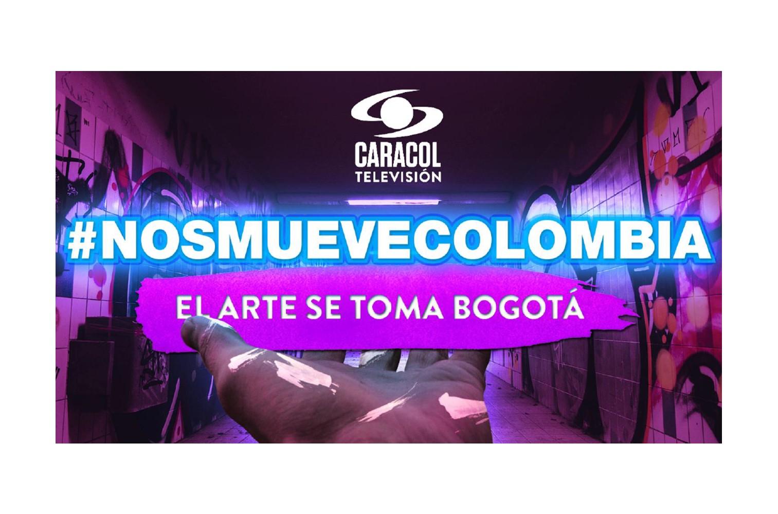 La campaña de Caracol Televisión #NosMueveColombia se toma Bogotá