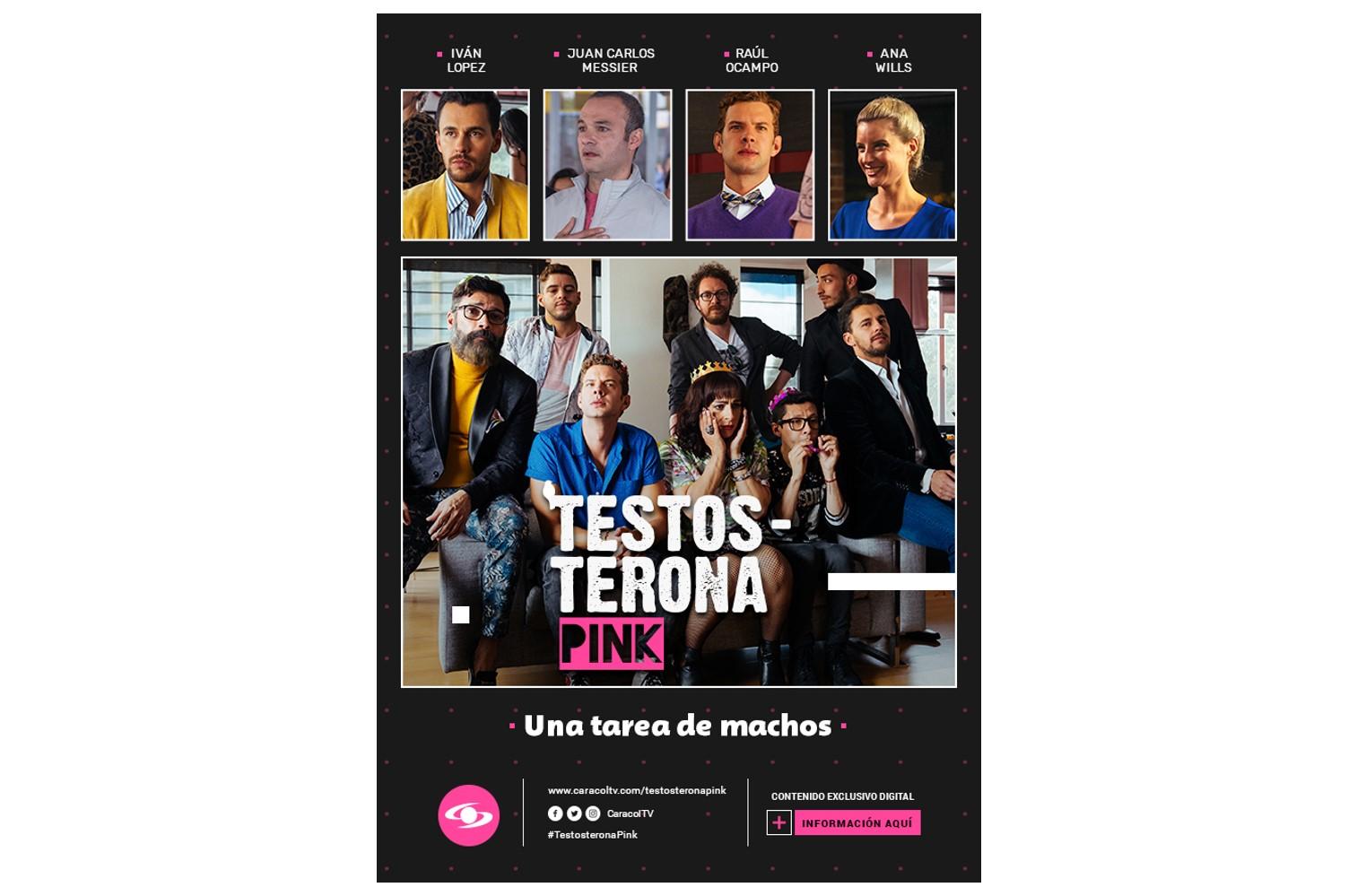 Exitoso lanzamiento de 'Testosterona Pink', la serie web de Caracoltv.com