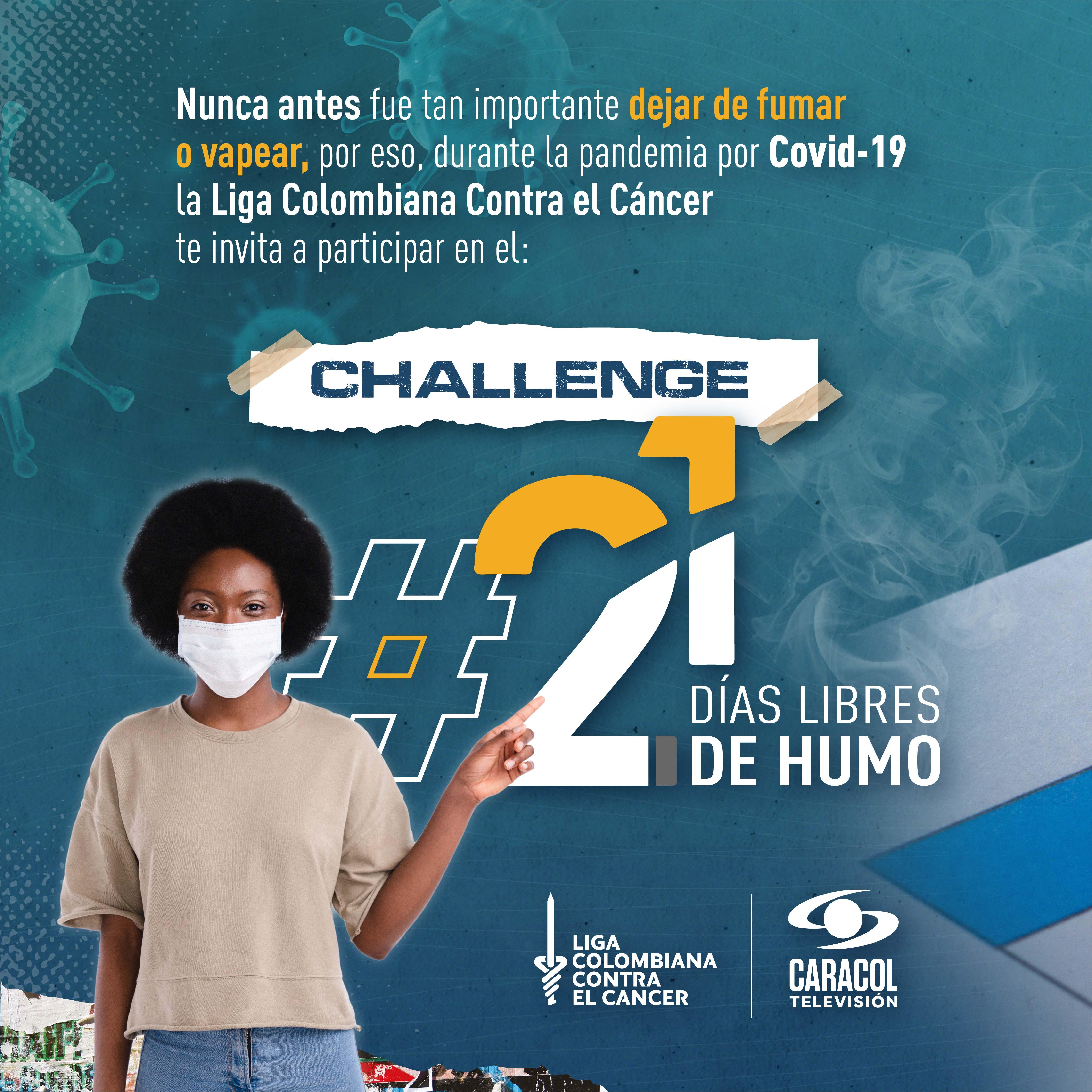 '21 días libres de humo' con Caracol Televisión y la Liga Colombiana Contra el Cáncer