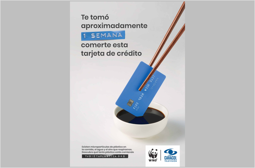 Caracol Televisión y WWF lanzan en Colombia la campaña 'tu dieta plástica'