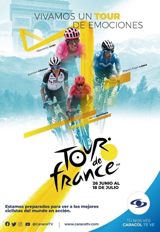 Siga la transmisión de las últimas etapas del Tour de Francia por Caracol Televisión