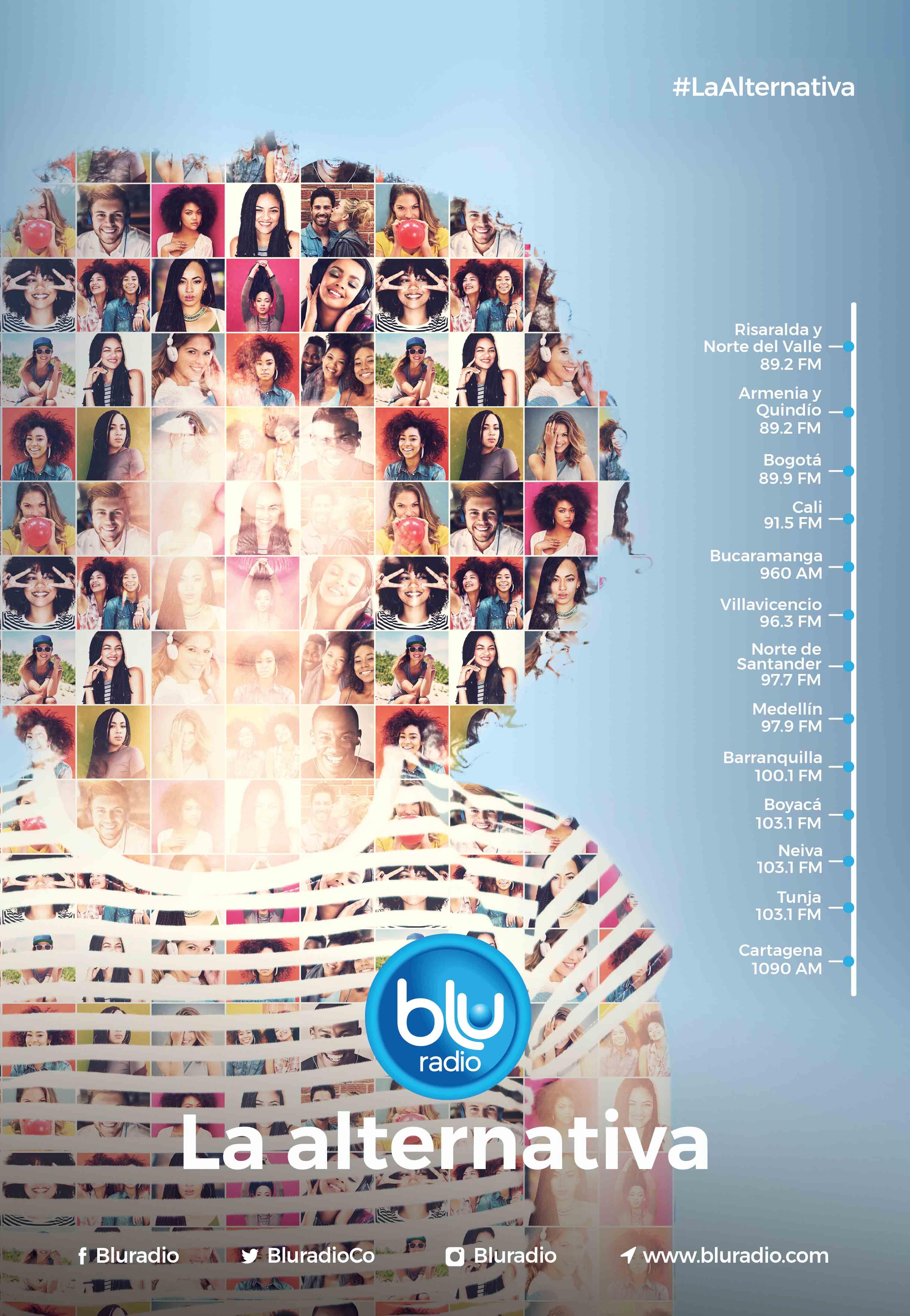 Blu Radio renueva su slogan y desde ahora será: Blu Radio, la alternativa