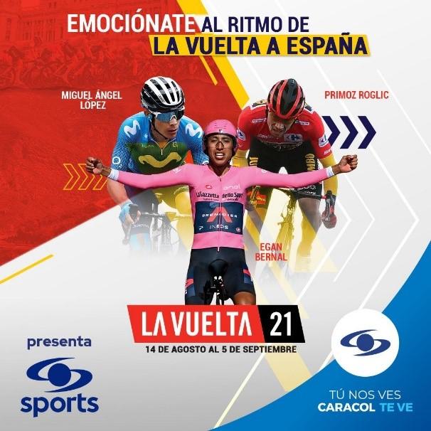 Siga las transmisiones de La Vuelta a España con el equipo de Caracol Sports